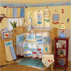 This Go Fish Bedding Is Perfect For Either A Boy Or Girl