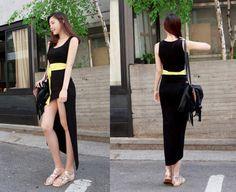 korea The Rok, Black N Yellow, Capri Pants, Korean, Jumpsuit, Japanese, Clothes For Women, My Style, Sexy