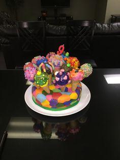 Cake pops ice cream cones birthday cake