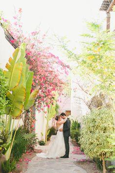 Tropical destination bride & groom | Photography: One Love Photo - www.onelove-photo.com  Read More: http://www.stylemepretty.com/destination-weddings/2014/10/03/dia-de-los-muertos-wedding-at-loreto-mexico/