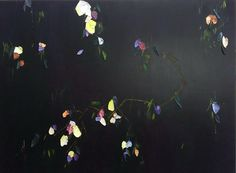 """36""""X48"""", oil and wax on panel, $3900, 2019.  Observing movements through constructed and organic environments drives Johnny Taylor's compositions. Taylor recognizes similar threads within nature and architecture, then creates mental snapshots of these subjects, internalizing them through a lens of Abstraction and ancient Asian painting. #abstractart #floralpainting #architecturalart #blooms #ikebana #wabisabi Spring Art, Various Artists, Ikebana, Wabi Sabi, Fine Art Photography, Abstract Art, Original Art, Wax, Lens"""