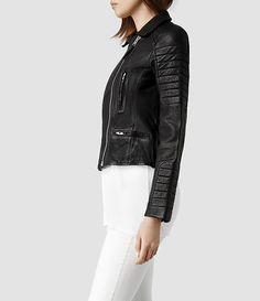 4793b0fcede49 Damen Pitch Biker Jacket (Black)