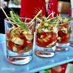 Ceviche shooters in Los Cabos by @Mona Ascha Shah-Anderson #LosCabos #Mexico #freshfood #seafood http://visitloscabos.travel/