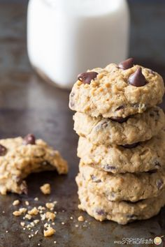 You are going to love these easy pumpkin chocolate chip and oatmeal cookies.  They have a cake texture and are super moist!