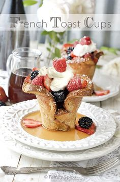 Whether you are making these for brunch for a crowd or a small family breakfast, these Baked French Toast Cups are simple to prepare and fun to eat.