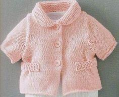 Hobiler Dünya: bebek için Ceket (örme)