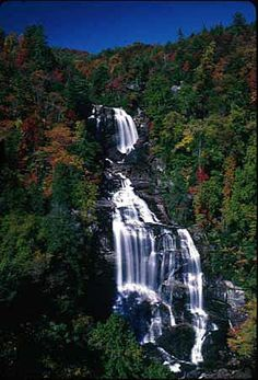 Whitewater Falls in Western NC. Tallest waterfall in the eastern US. National Forests in North Carolina - Special Places
