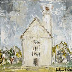 Sarah Robertson Seaside Chapel Canvas Painting