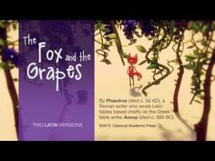 Fox and the Grapes, Aesop's Fables, Latin Practice - YouTube