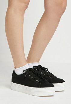 Canvas Flatform Sneakers | Forever 21 | #stepitup