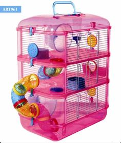 MADISON 3 HAMSTER CAGE - ART   This popular colourful three storey hamster cage will provide your pet with plenty of room to exercise and play.