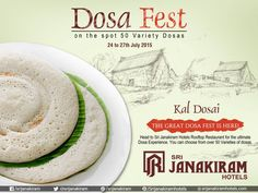 Kal Dosai - A #DOSA_FEST special dish which is real treat for dosa lovers. Taste the Soft & smoothy kal dosa at #SrijanakiramHotels  from 24th to 27th July at #Rooftop_Restaurant #DosaFestival #DosaFest #foodie #foodmela