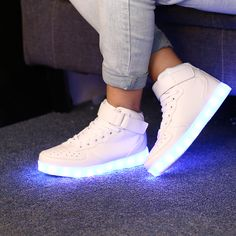 chaussure led montante blanche