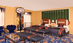 Sports Room. Fantasyland Hotel, Edmonton