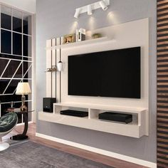 The panel is on sale in the u. Tv Unit Interior Design, Tv Unit Furniture Design, Tv Unit Decor, Tv Wall Decor, Tv Cabinet Design, Tv Wall Design, Lcd Panel Design, Modern Tv Wall Units, Tv Stand Designs