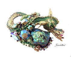 Vintage Signed Har Dragon Pin http://www.jeweldiva.com/vintage-signed-har-dragon-pin.html