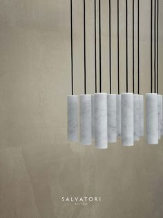 The simple cylinder is a perfect starting point for a beautiful object carved from stone, not a material that immediately springs to mind when talking about lighting. Spanish architect and designer David Lopez Quincoces, however has made it a stunning reality with his Silo pendant lamp.  Available in both classic Bianco Carrara and in the warm dark tones of Pietra d'Avola, it gives off a beautifully soft and seductive light. It can be configured either as a single lamp or as a cluster.