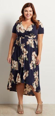 Plus Size Hi-Low Midi Dress