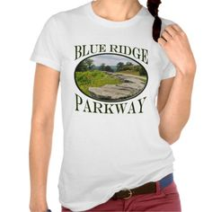 Blue Ridge Parkway Country Spring Road Souvenir T-shirts his design features photography from the beautiful Blue Ridge Parkway - the most visited national park unit in the USA. This photo has a country road with spring flowers and large boulders lining the road. Great souvenir for a park lover, hiker, backpacker or outdoors man or woman.