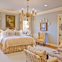 Traditional Bedroom Designs Master Bedroom plates hung above bed, mom master bedroom plates, | mom + master