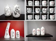 Cette #ceramiste porcelainière française, vivant dans le Maine-et-Loire est créatrice de contenants (#mugs, #tasses, #bouteilles,#vases…) Le noir et blanc ou rouge et blanc lui permettent de réaliser des décors #graphiques à l'univers végétal, un travail délicat et minutieux que j'aime beaucoup. #mo16 #madeinfrance #ceramik #porcelaine #design #maisonetobjet #annesophieboue #noiretblanc #vegetal #blackandwhite