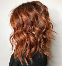 Balayage hair copper, Copper hair, Hair color, Hair color Balayage hair, Hair cuts - RG salon ・・・ It& not a party till the redhead shows up! Hair Color 2018, Ombre Hair Color, Autumn Hair Colour 2018, Copper Hair Colour, Lob Ombre, Aveda Hair Color, Salon Hair Color, Balayage Hair Copper, Copper Ombre