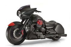 Moto Guzzi unveiled a customised carbon-fibre encased cruiser prototype at the EICMA bike show in Milan. Guzzi Bobber, V9 Bobber, Guzzi V9, Moto Guzzi Motorcycles, New Motorcycles, Touring Motorcycles, Indian Motorcycles, Moto Guzzi California, Scooters
