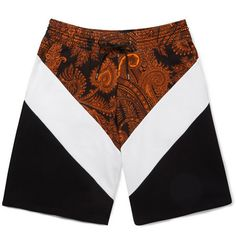 SPORTS INFLUENCE Stately paisley meets sportswear in Givenchys cotton-jersey shorts and the results are undoubtedly cool. Cut in a relaxed, clean-lined fit, they exude effortless contemporary flair. Team them with leather high-tops and a printed tee for maximum impact.
