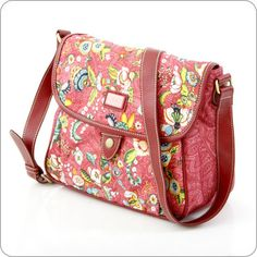 OILILY TASCHE French Flowers : M Flap Shoulder Bag in Pink : Onlineshop