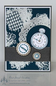 Stampin' UP! by First Hand Emotion: IN{K}SPIRE_me Challenge #086, Clockworks