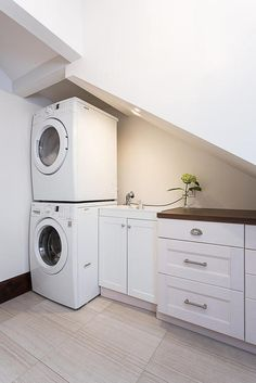 Under stairs laundry room?? Beautiful 1920s House Tour