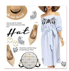 """""""Summer Hats 4"""" by paculi ❤ liked on Polyvore featuring Casadei, Forever 21 and summerhat"""