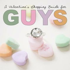 A Valentine's Day Shopping Guide for the men in your lives.  Pin it and email the link to your man. :)