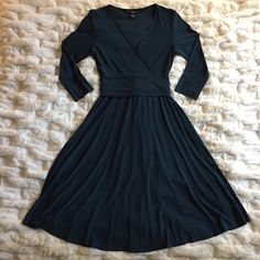 jones new york petite teal dress  jones new york • petite teal dress • size 10P  • ***two small holes in back seam as shown in last photo*** Jones New York Dresses