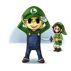 Luigink & Lingi crossovers; #Link #Luigi