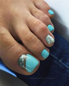 40 Chic And Trendy Toe Nails Art Ideas To Try In 2020 Summer - Hey! Pretty babies, summer is here. Are you ready for cute, trendy, and chic toes nail - Pretty Toe Nails, Cute Toe Nails, Gel Toe Nails, Pink Toe Nails, Gel Toes, Pastel Nails, Gold Nails, Blue Nails, White Nails