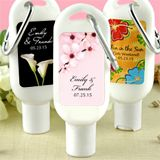 Sunscreen Favors with Carabiner (SPF 30): Flower Designs - sweet spring wedding favors for your special day - http://www.favorfavor.com/page/FF/CTGY/SpringFavors?Offset=64
