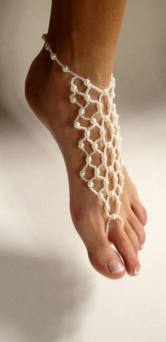 Or these shoeless sandals. Destination Wedding Barefoot Sandals with White by BareSandals, $38.00