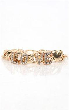 deb shops chain bracelet with stone love and toggle closure $8.62
