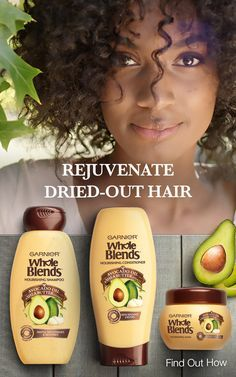 Garnier Whole Blends Avocado Oil & Shea Butter Extracts Nourishing haircare with avocado oil and shea butter extracts brings to life wholesome loving care and rejuvenates dried out hair. Find your blend at GarnierWholeBlend… Source by Pelo Natural, Natural Hair Tips, Natural Hair Styles, Whole Blends, Hair Treatment Mask, Nourishing Shampoo, Hair Care Routine, Hair Conditioner, Hair Journey