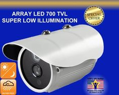 "700TVL WEATHER PROOF BULLET ARRAY IR LED SECURITY CAMERA LOW ILLUMINATION HIGH RESOLUTION by EVERTECH by EVERTECH USA. $39.99. Image Sensor  1/4"" super low illumination                                 Aptina Made in USA Sensor  Effective Pixels  NTSC: 976(H) x 494(V)  Signal System  PAL/NTSC  Horizontal Resolution  700 TV Line  Lens  3.6mm  Minimum Illumination  0Lux / F1.2  S/N Ratio  52dB Min (AGC off)  Electronic Shutter Speed  1/50(1/60)~1/100,000  Lens  C..."
