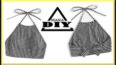 diy sewing clothes How to make a Gingham Crop Top Sewing Tutorials, Sewing Crafts, Sewing Projects, Sewing Patterns, Clothes Patterns, Dress Patterns, Fashion Sewing, Diy Fashion, Fashion Brands