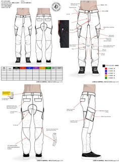 Technical drawing - fashion drawing - cargo pants tech pack by maurice malone Clothing Sketches, Fashion Sketches, Drawing Fashion, Dress Sketches, Dress Sewing Patterns, Clothing Patterns, Tutorial Draw, Artisanats Denim, Pants Drawing