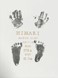 手足型 命名書 new bone hand print foot print 0歳0ヵ月
