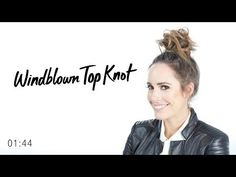 Windblown Top Knot Hair Tutorial | TRESemmé Style Setters
