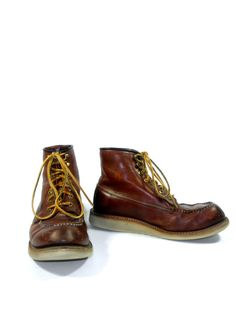 Chocolate Size 8 Vintage Victor Original Harness Boot