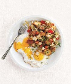 Turkey Hash With Fried Eggs | RealSimple.com