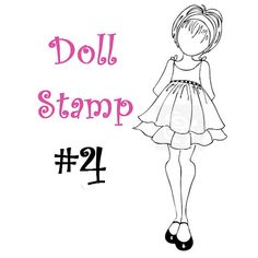 Prima Doll Stamp - Julie Nutting - Large Rubber Stamp - Mixed Media - READY TO SHIP - nr4