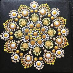 Do more of what makes you ✨✨sparkle ✨✨~ Unknown ✨ Dot Art Painting, Rock Painting Designs, Pebble Painting, Painting Patterns, Pebble Art, Stone Painting, Mandala Art, Mandala Canvas, Mandala Painting