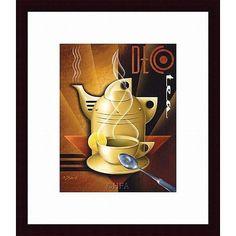 Michael L. Kungl 'Deco Tea' Framed Print